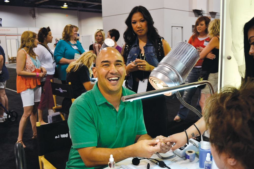 <p>Young Nails&rsquo; Greg Salo is always excited to share his nail skills.</p>