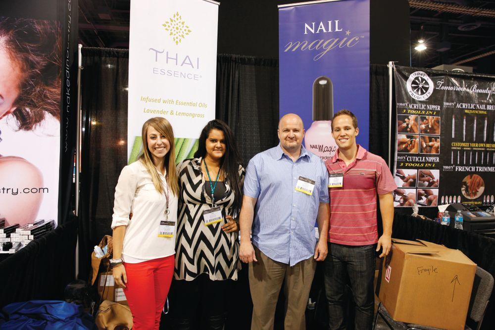 <p>Kaity Harmon, Niki Haken, Scott Haken, and Luke Harmon promoted the Nail Magic nail hardener and conditioner that has been around since 1960.</p>