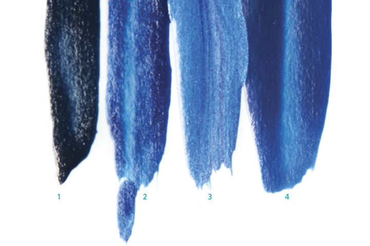 <p>1. <strong>Jessica Blue</strong> Aria <br />2. <strong>Seche</strong> Wonderfully Witty<br />3 <strong>China</strong> <strong>Glaze</strong> Scandalous Shenanigans<br />4. <strong>OPI</strong> Keeping Suzi at Bay</p>