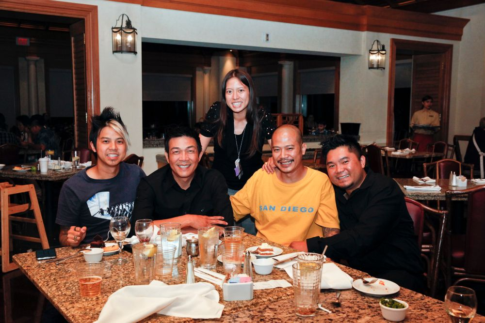 <p>An OPI A-Team half-team reunion with VietSALON's Kim Pham (center), Robert Nguyen, Kelvin St. Pham, Vu Nguyen, and Danny Phung.</p>