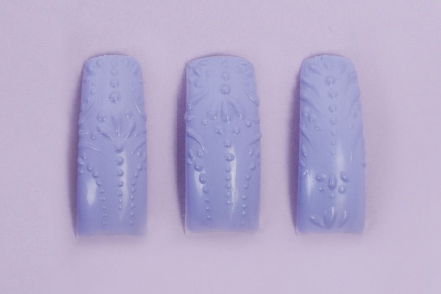 """<p class=""""MsoNormal"""">Nail tips by Alexandra Mansoor, Algea Veronica, Madison Heights, Mich., @algaeveronica.</p>"""