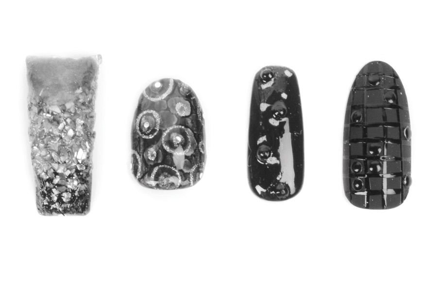 """<p class=""""MsoNormal"""">From left to right: Rosa Vargas, Today&rsquo;s Trends Salon Spa, Greenacres, Fla., @nailsbyrosavargas. Mia Rubie, Sparkle SF, San Francisco, Calif. @superflynails. Shannon Rooney, Seriously Nails, Las Vegas, Nev., @seriouslynails. Kim Bui, Vy&rsquo;s Nail Spa, Norfolk, Va., @sincerelykimbui.</p>"""