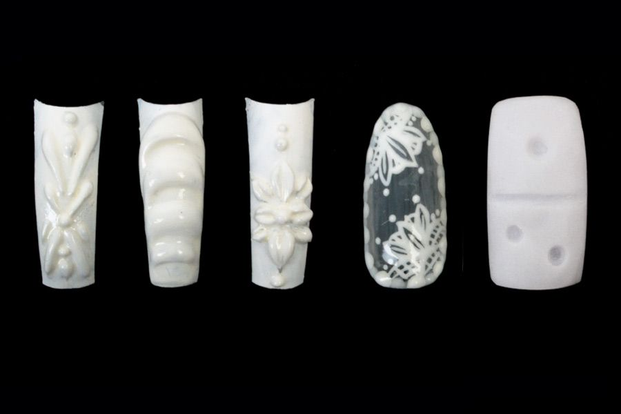 "<p class=""MsoNormal"">From left to right: Tina Nguyen, California Dream Studio, Houston, Texas, @nailsbymztina. Fourth tip: Kim Bui, Vy&rsquo;s Nail Spa, Norfolk, Va.,@sincerelykimbui. Karalee Chabot, Milki&rsquo;s Barbershop and Nails, Hudson, N. H., @karaleenails.</p>"
