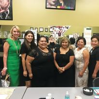 Bellus Academy president Lynelle Lynch, me, Renita Montgomery, Helen Cordona, Paulina Riddle,...