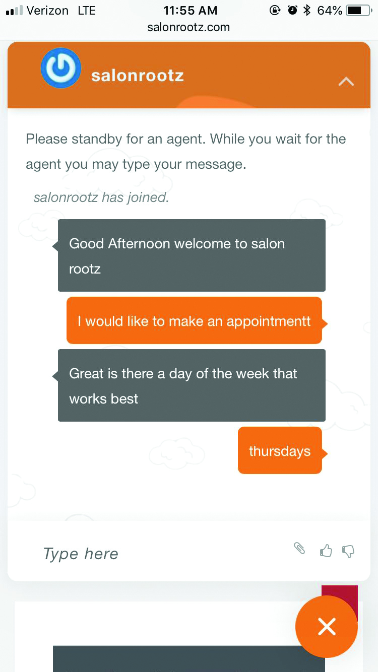 Salon Uses Web Chat to Capture New Clients