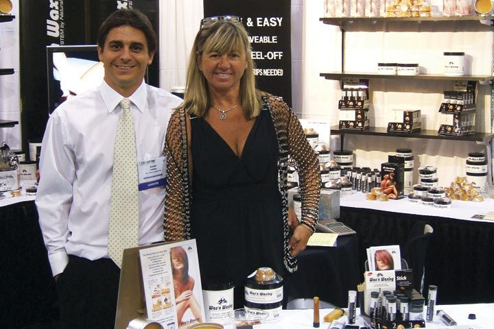 <p>Baxter Cepeda and his mother Patricia of Wax N Waxing introduced new products like refill wax bricks, wax heaters, and wax containers.</p>
