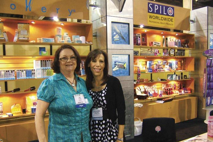 <p>Spilo&rsquo;s Sally Ferguson and Susan Durbin manned the booth and explained to clients the craftsmanship of Mehaz implements as well as the other brands offered by the company.</p>