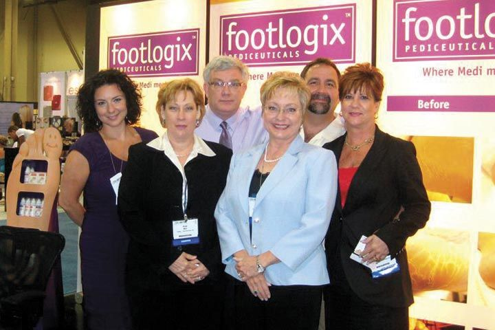 <p>Footlogix&rsquo;s Tanya Palladino, Vicki Malo, Murray Smith, Katharin von Gavel, Keith Grader, and C.J. Adams were serene on the spa side of the show.</p>