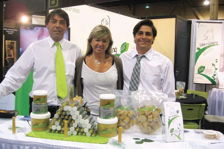 <p>Wax &lsquo;n Waxing&rsquo;s Daniel Cepeda, Patricia Cepeda, and Baxter Cepeda were happy to talk about the new bulk ordering discounts the company now offers.</p>