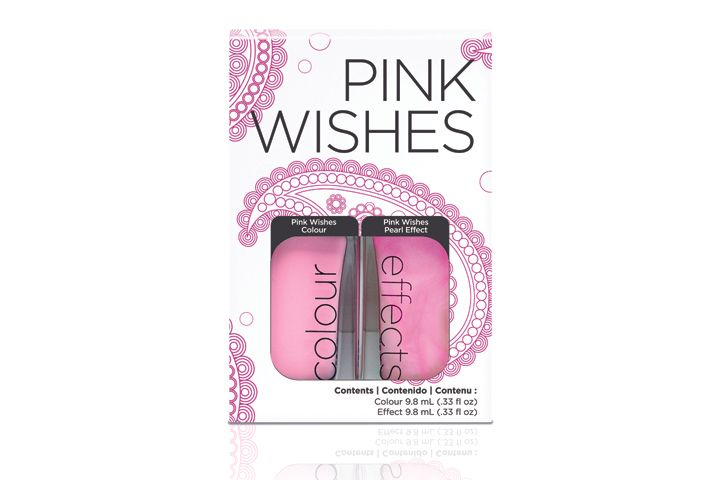 "<p>To embrace the spirit of unity, <a href=""http://www.cnd.com"">CND&rsquo;s</a> limited edition Pink Wishes Colour &amp; Effects Duo makes a beautiful combo. Pink Wishes Effect, a sweet, pale pink with a pearlescent sheen gives a beautiful layered look over Pink Wishes Colour, a cotton-candy pink. CND &shy;donates annually to the City of Hope Foundation.</p>"