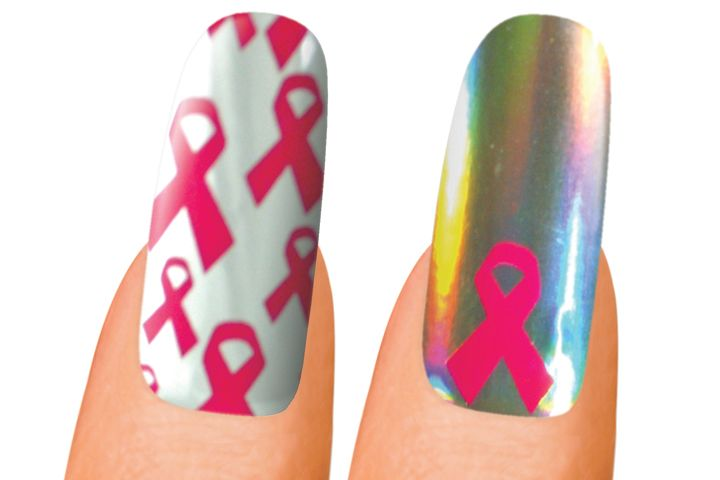 "<p><a href=""http://www.minxnails.com"">Minx</a> will be offering two breast cancer awareness designs. One design is tile-patterned with the pink ribbon on top of a white background. The other features one pink ribbon that pops out from the metallic base. Minx donates $5 from every purchase of a Minx-A-Cure template to the Breast Cancer Research Foundation.</p>"