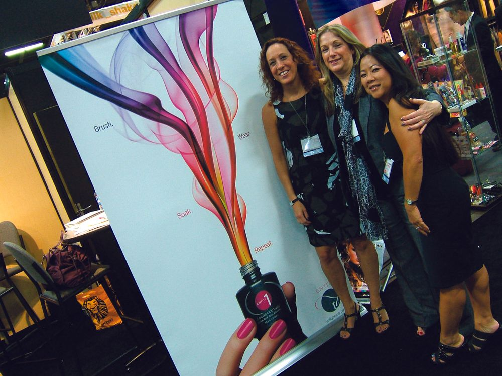 "<p><span style=""font-size: xx-small;""><span lang=""EN""> <p align=""left"">Vicki Heller, Ellen Ambrecht, and Dee Nguyen are excited about Entity One Color Couture.</p> </span></span></p>"