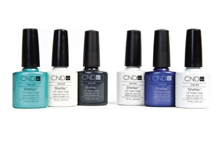"<p><a href=""http://www.cnd.com"">CND</a> is launching six new shades for Shellac this fall. Shellac applies like polish and gently comes off in ten minutes with convenient, hygienic CND Shellac Remover Wraps that limit finger and skin exposure to acetone by keeping it pinpointed on the nail. The new colors range from soft whites to shades of blue and black and are named Zillionaire, Purple Purple, Studio White, Asphalt, Moonlight &amp; Roses, and Hotski To Tchotchke.</p>"