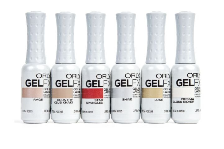 "<p><a href=""http://www.orlybeauty.com"">Orly&rsquo;s</a> brand new GelFX gel manicure system ensures incredibly durable, chip-free manicures that last for two weeks with superior shine and easy removal. Each GelFX shade is matched to a top-selling Orly polish, with a range of sophisticated neutrals to glittering metallic and vibrant blues, purples, and blacks. Great shades for fall include Star Spangled, Rage, Country Club Khaki, Shine, Luxe, and Prisma Gloss Silver (pictured).</p>"