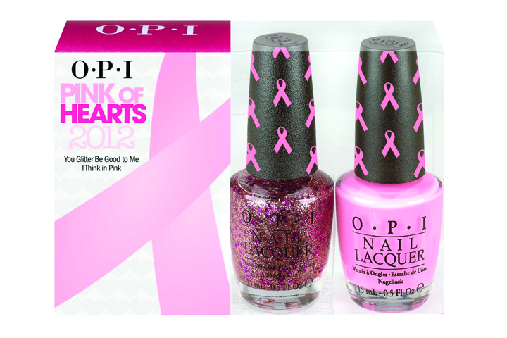 "<p class=""sidebar-WhitneyBASICTEXT""><strong>OPI</strong> has announced its sixth annual Pink of Hearts limited edition nail lacquer line called Pink of Hearts 2012. It is a pack of two lacquers with a pale pink shade called I Think in Pink and a pink and magenta glitter shade called You Glitter Be Good to Me. Both lacquers have a pink-ribbon cap. For 2012, OPI is planning to donate $25,000 to Susan G. Komen for the Cure and an additional $5,000 to rethink Breast Cancer, which is located in Canada.</p> <p class=""sidebar-WhitneyBASICTEXT""><a href=""http://www.opi.com"">www.opi.com</a></p>"