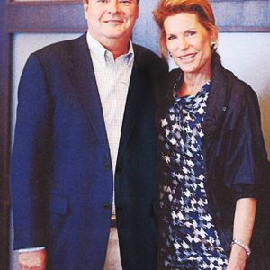 Sally Beauty Holdings president and CEO Gary Winterhalter poses with Susan G. Komen founder...