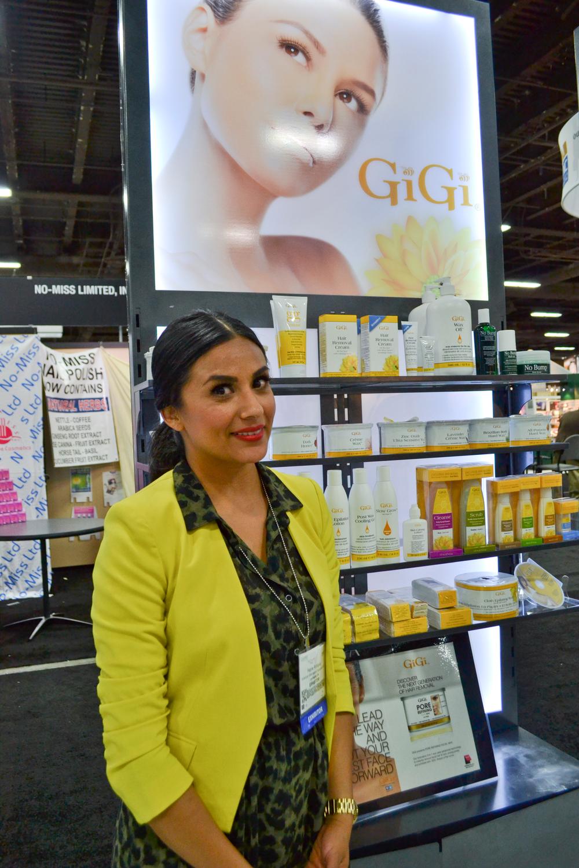 <p>Regina Rodriguez&rsquo;s outfit matches the bright colors at Gigi.</p>