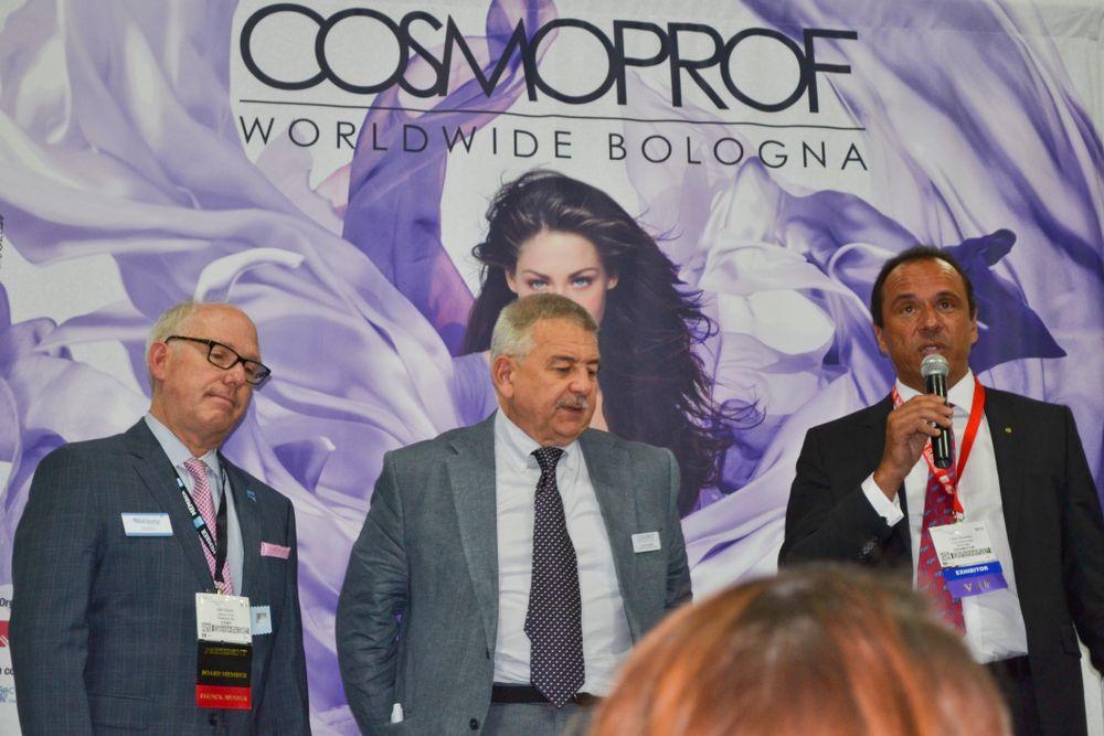 """<p class=""""normal"""">Max Wexler, Duccio Campagnoli, and Fabio Rossello speak to the press at the PBA lunch.</p>"""