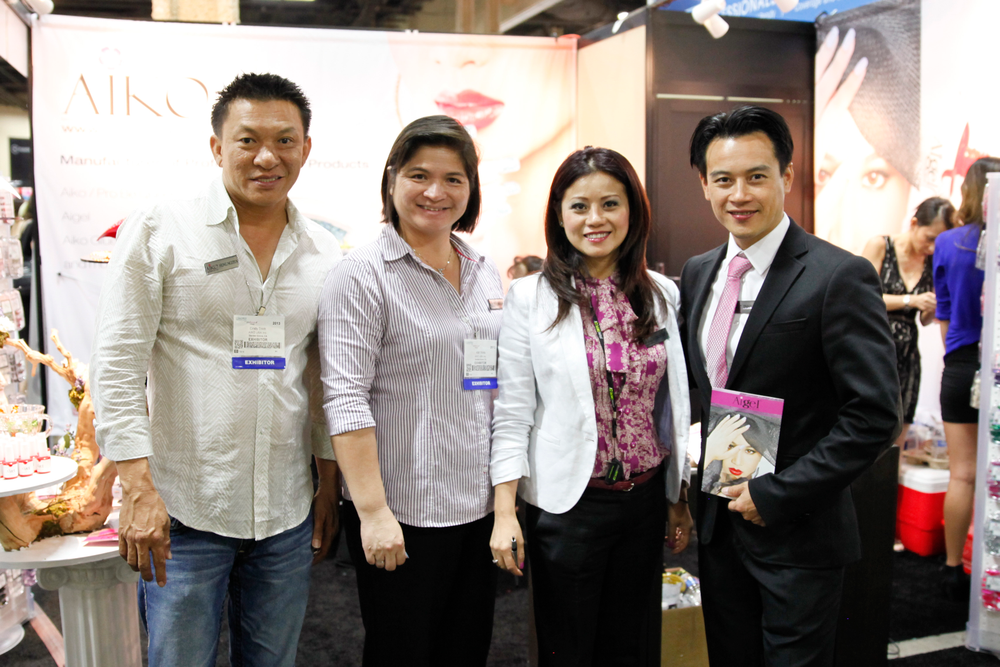 <p>Aiko&rsquo;s Hung Nguyen, Cindh Thinh, Kim Tran, and Timmy Thien Trinh promoted the company&rsquo;s new Aiko Aigel soak-off gel-polish.</p>
