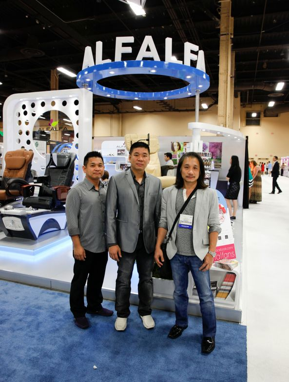 <p>Alfalfa Nail Supply brothers Hien Ton, Dat Ton, and Charlie Ton held special promotions throughout the weekend.</p>