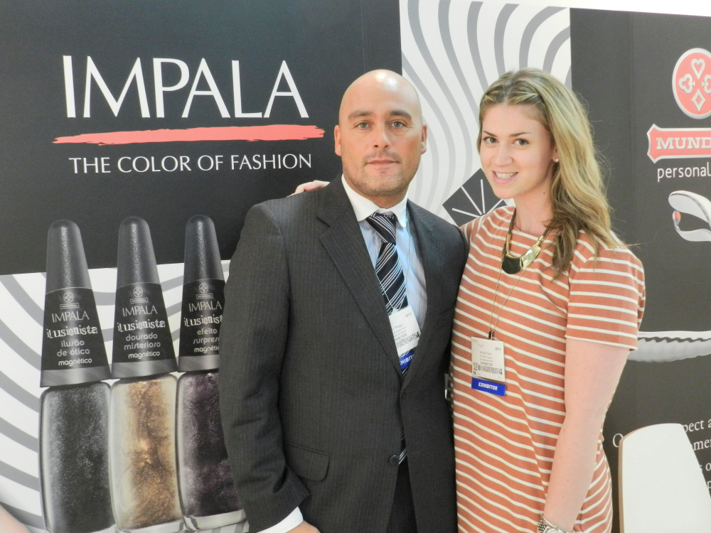 <p>At the show, Mundial's commercial manager Pablo Magii and account executive Michal Rubin introduced Impala, the brand's polish line, to the U.S. market.</p>