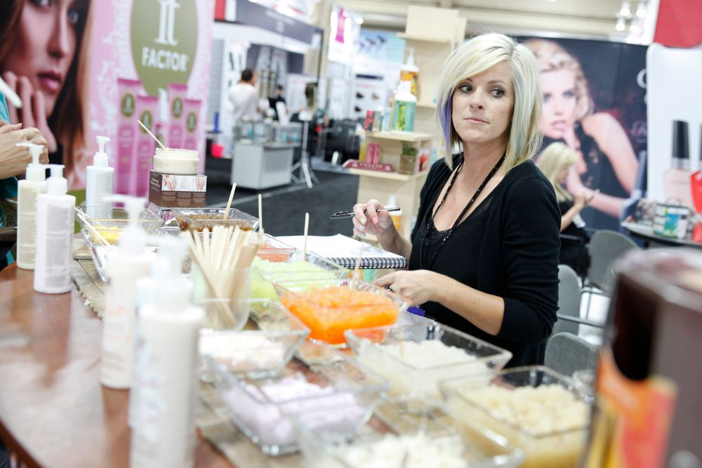 <p>Cuccio Natural&eacute; displayed a wide range of the company's lotions, masks, and body butter products.</p>