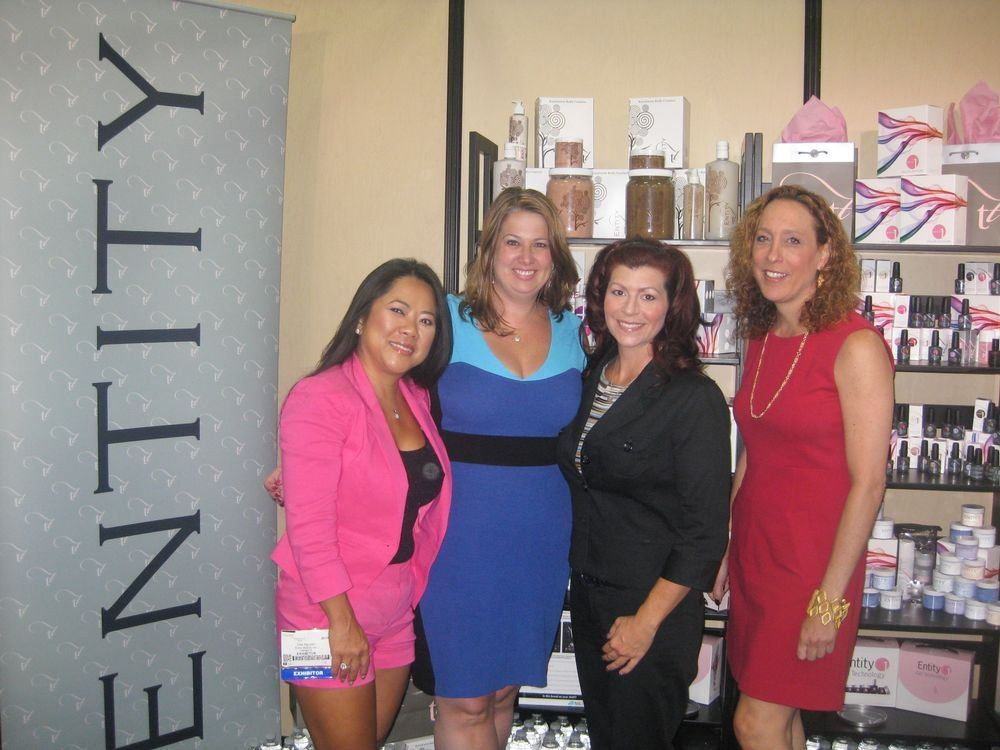 <p>Dee Nguyen, Jamie Stiely, Leslie Randall, and Vicki Heller are excited about the launch of Entity Beauty&rsquo;s new LED-cured gel on September 1.</p>