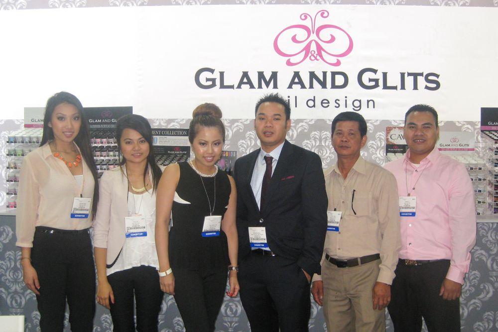 <p>Jennifer Dang, Fiona Bui, Ana Katrina Tan, Michael Duong, Trieu Doan, and Daniel Ly represent Glam and Glits Nail Design.</p>