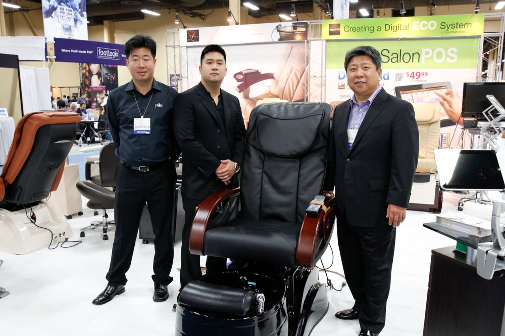 <p>J&amp;A&rsquo;s Mike Ahn, Marcus Hahn, and CEO Yun Kim promoted the J&amp;A Pacific Pedicure Spa.</p>