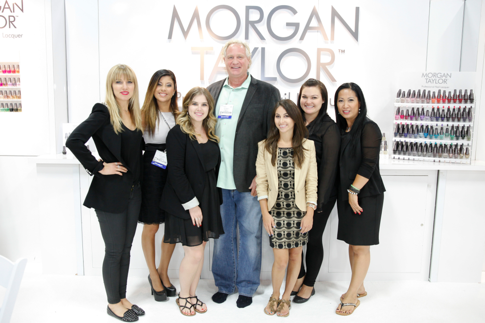<p>The Morgan Taylor team of Alesia Lanzo, Jennifer Salazar, Taylor Daniel, Don Kittleson, Morgan Haile, Amy MacGregor, and Thao Nguyen met with attendees at the company&rsquo;s first time at Cosmoprof.</p>
