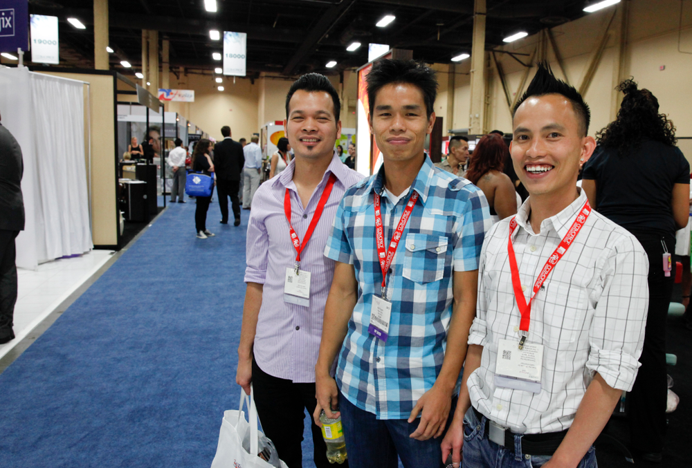 <p>Spotted on the show floor: Thanh Nguyen, Bao Nguyen, and Henry Duong, friends and the creators of Nails4Viet.com, attends Cosmoprof for the first time in years.</p>