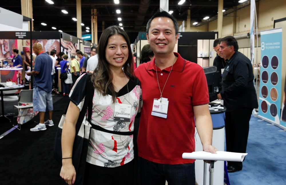 <p>Spotted on the show floor: VietSALON associate editor Kim Pham found Nail Superstore&rsquo;s Kevin Huynh perusing the Cosmoprof aisles.</p>