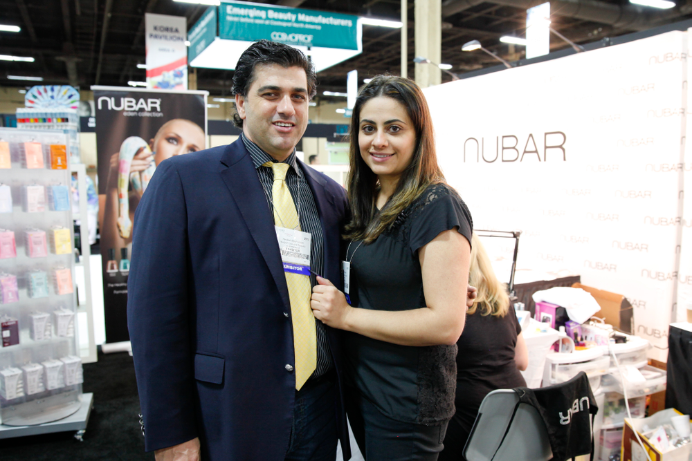 <p>Noubar Abrahamian and Aimee promoted the Nubar line of nail polish and Gelicure soak-off gel-polish.</p>