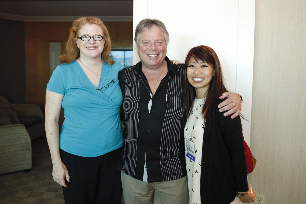 <p>NAILS&rsquo; Cyndy Drummey, Pacific World&rsquo;s Andy Hillas, and Dashing Diva&rsquo;s So Yong Yu</p>
