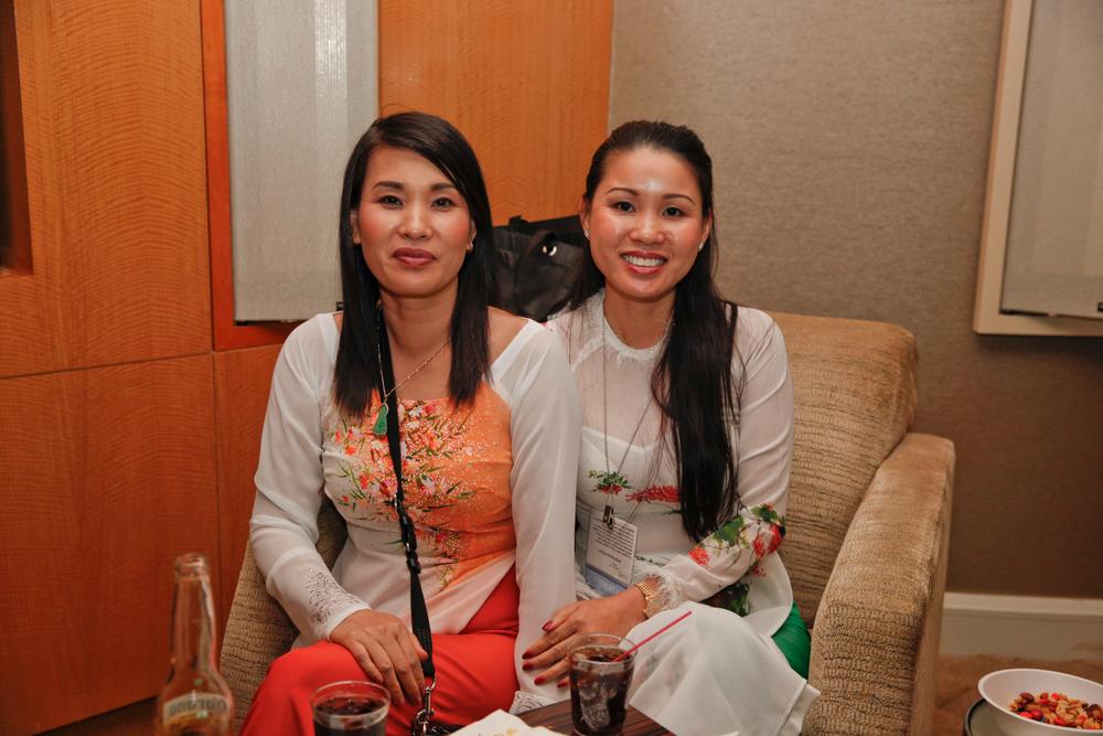 <p>Sisters Tammy Tran and Ngan Tran</p>