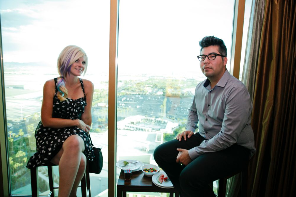 <p>Star Nails' Jennifer Matthews and Juan Gutierrez</p>