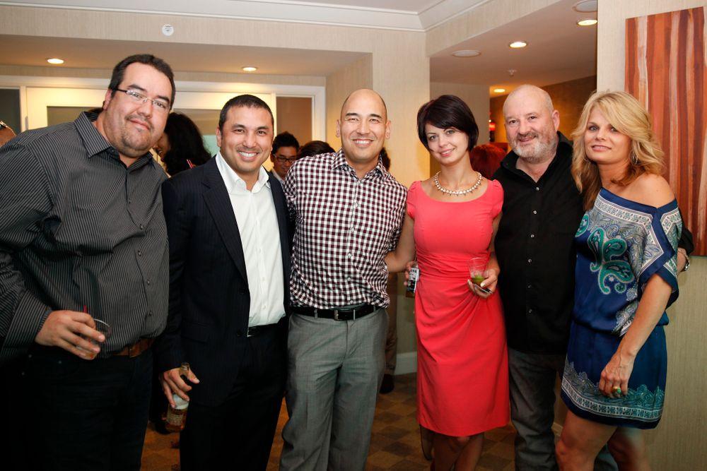 <p>Young Nails' Ramon Hernandez, brothers Habib and Greg Salo, Karolina Boczek, John O'Sullivan, and Tracey Reierson</p>