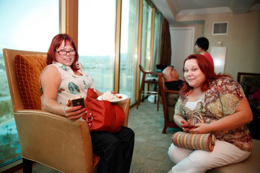 <p>Natalie Peters and Kupa's Sara Kuzma</p>