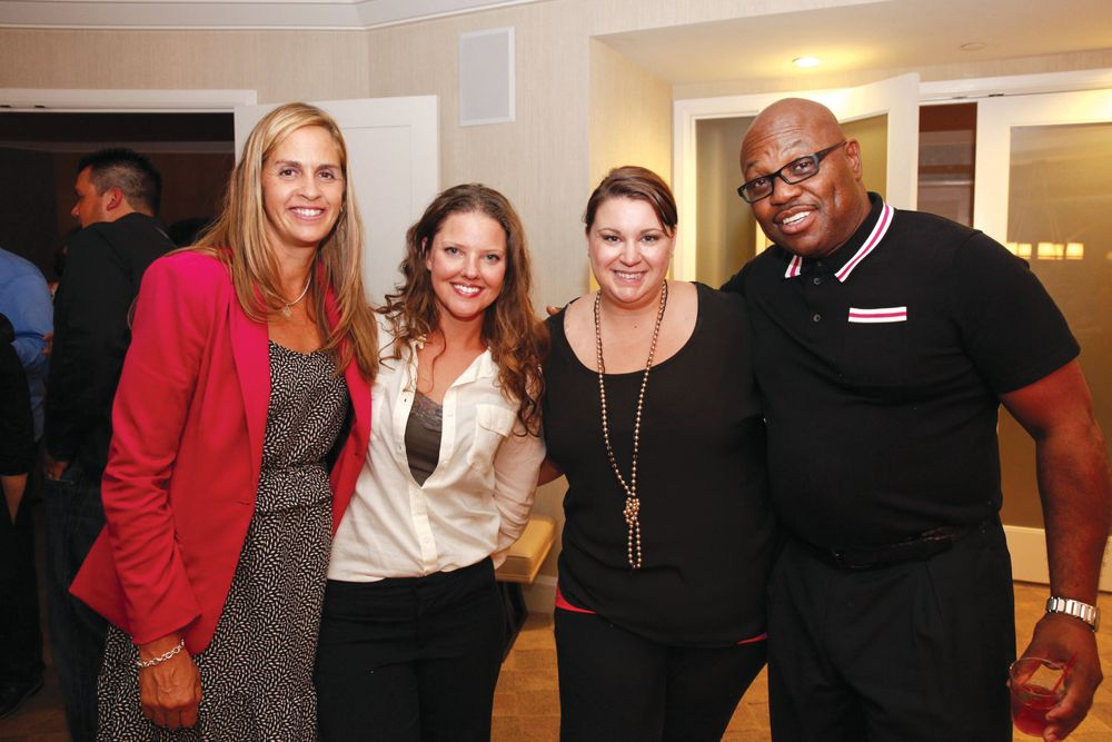 <p>NAILS&rsquo; Mary Baughman, Millenia&rsquo;s Heather Newhouse, Megan Eaton, and Dwayne Gavin</p>