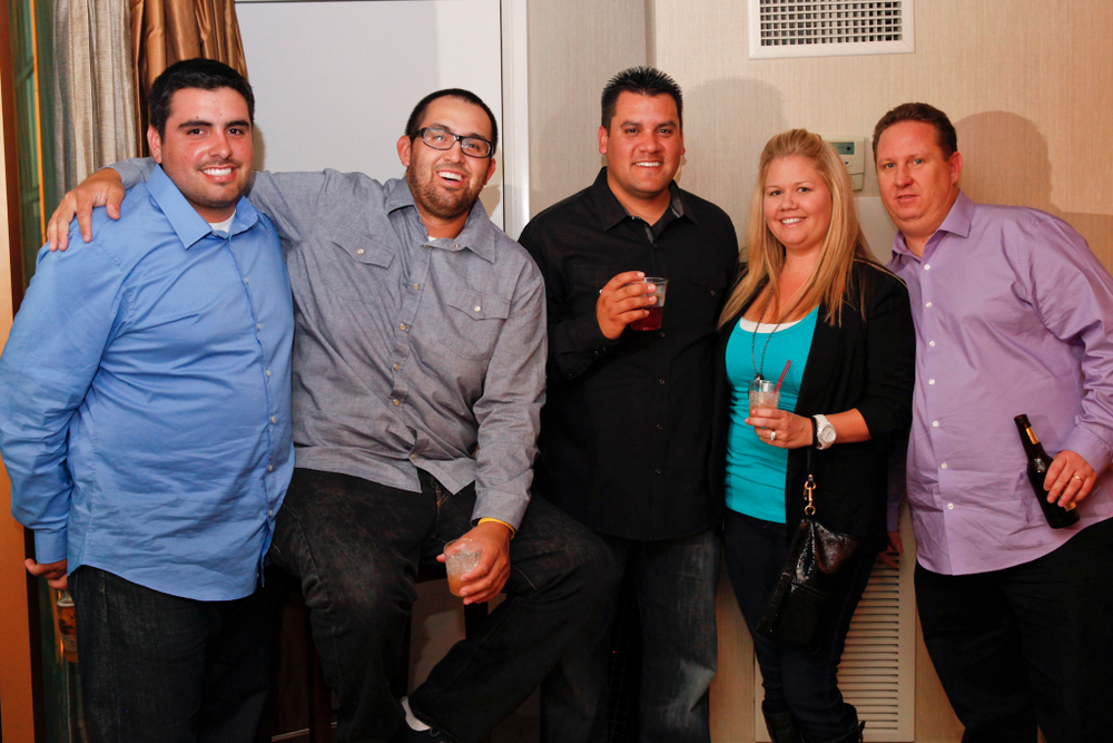 <p>ENP&rsquo;s Brian Loard, Brandon Rodriguez, and Jon and Christine Ozorotney</p>