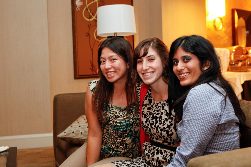 <p>NAILS' Kim Pham, Brittni Rubin, and Sree Roy</p>