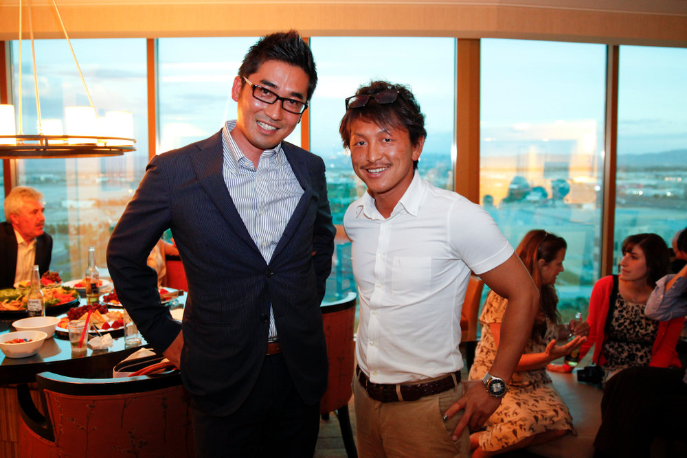<p>Hiro Matsugi and Bella Forma's Fumihiro Kato</p>
