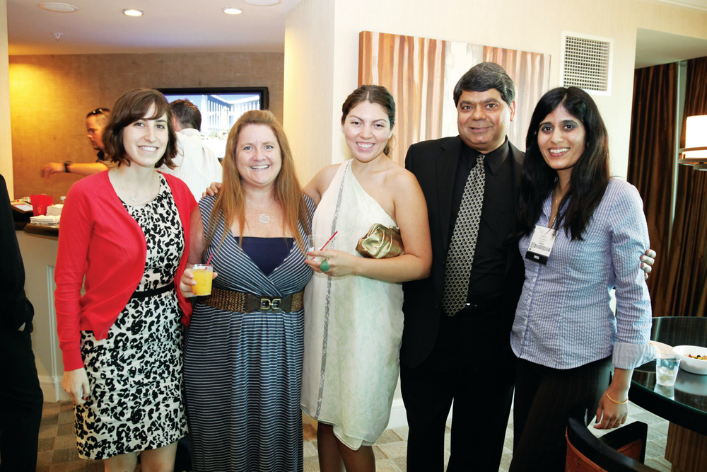 <p>American Dawn&rsquo;s Ron Kothari (second from right) and NAILS&rsquo; Brittni Rubin, Hannah Lee, Beth Livesay, and Sree Roy</p>