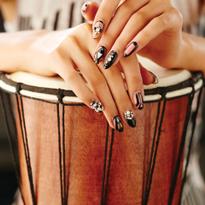 Danielle Costantino's original bejeweled geometric nail design.