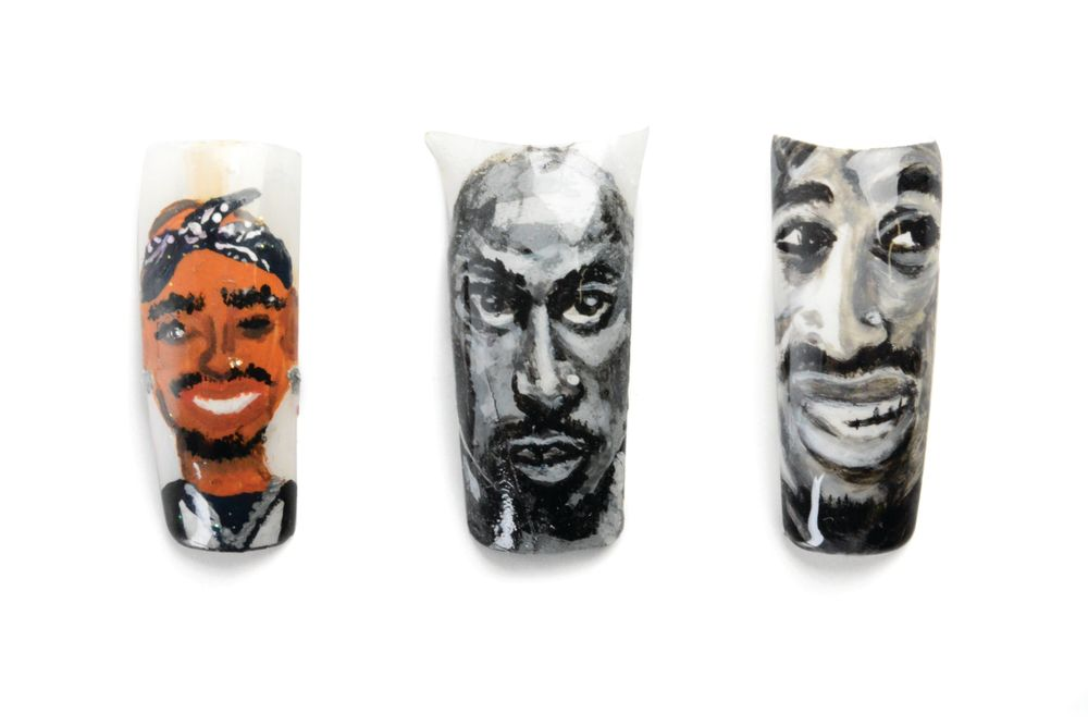 <p>A 3-Pack of Tupacs by (left to right) Danielle Lively,&nbsp;Waukesha, Wis.,&nbsp;Talor Edwards,&nbsp;Carson, Calif., and&nbsp;Willie J. Jackson, Jr.,&nbsp;Hallandale Beach, Fla.</p>