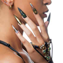 Behind the Scenes: Gothic Gold Acrylic Nails