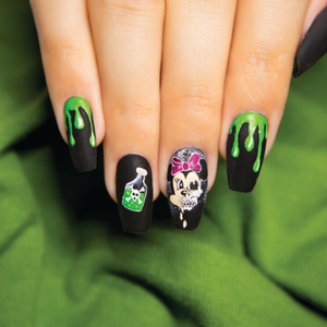 Scary Minnie Mouse Halloween Nail Art Tutorial