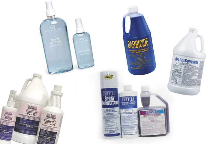 <p>Stock up on these hard surface and implement cleaners, then be sure   to talk up your sanitation and disinfection practices to your clientele.   If you strictly follow the instructions on the product labels, you&rsquo;ll   be well on your way to keeping your clients safe &mdash; and sold on your   salon.</p>