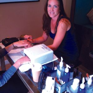 Ally Conley, owner of Mani Pedi Cutie in Hermosa Beach, Calif., looks for techs who are good...