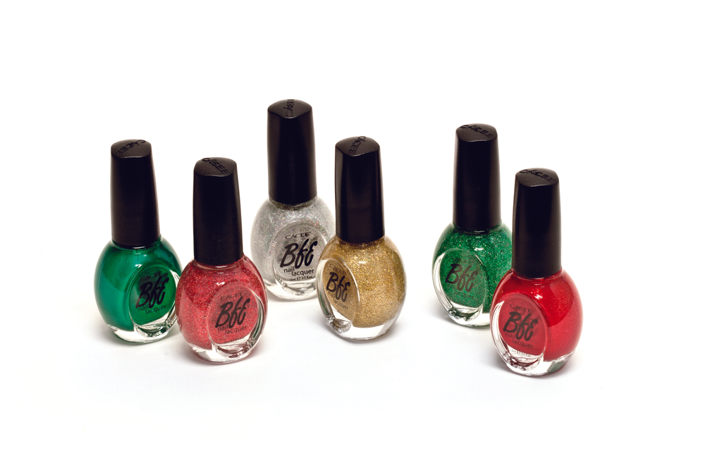 "<p>Get your holiday glitter on with Cacee&rsquo;s Holiday Lacquer Collection. The sparkling shades can meet the demands of any holiday hungry client, and the colors can be combined for festive nail art. From left to right: Tracy 360, Ruby Dazzle 414, Audrey 386, Citrine Dazzle 413, Emerald Dazzle 412, and Dorothy 382. <a href=""http://www.caceeinc.com/"">www.cacee.com</a>.&nbsp;</p>"